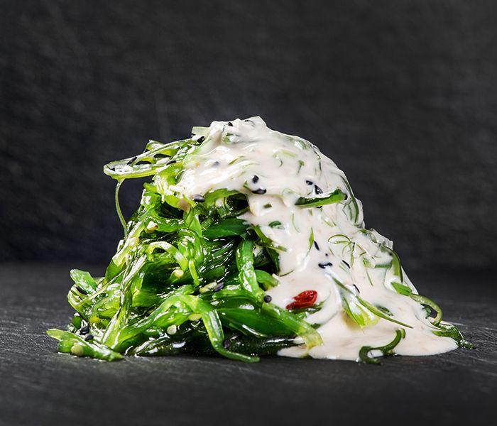 Чука-салат с ореховым соусом