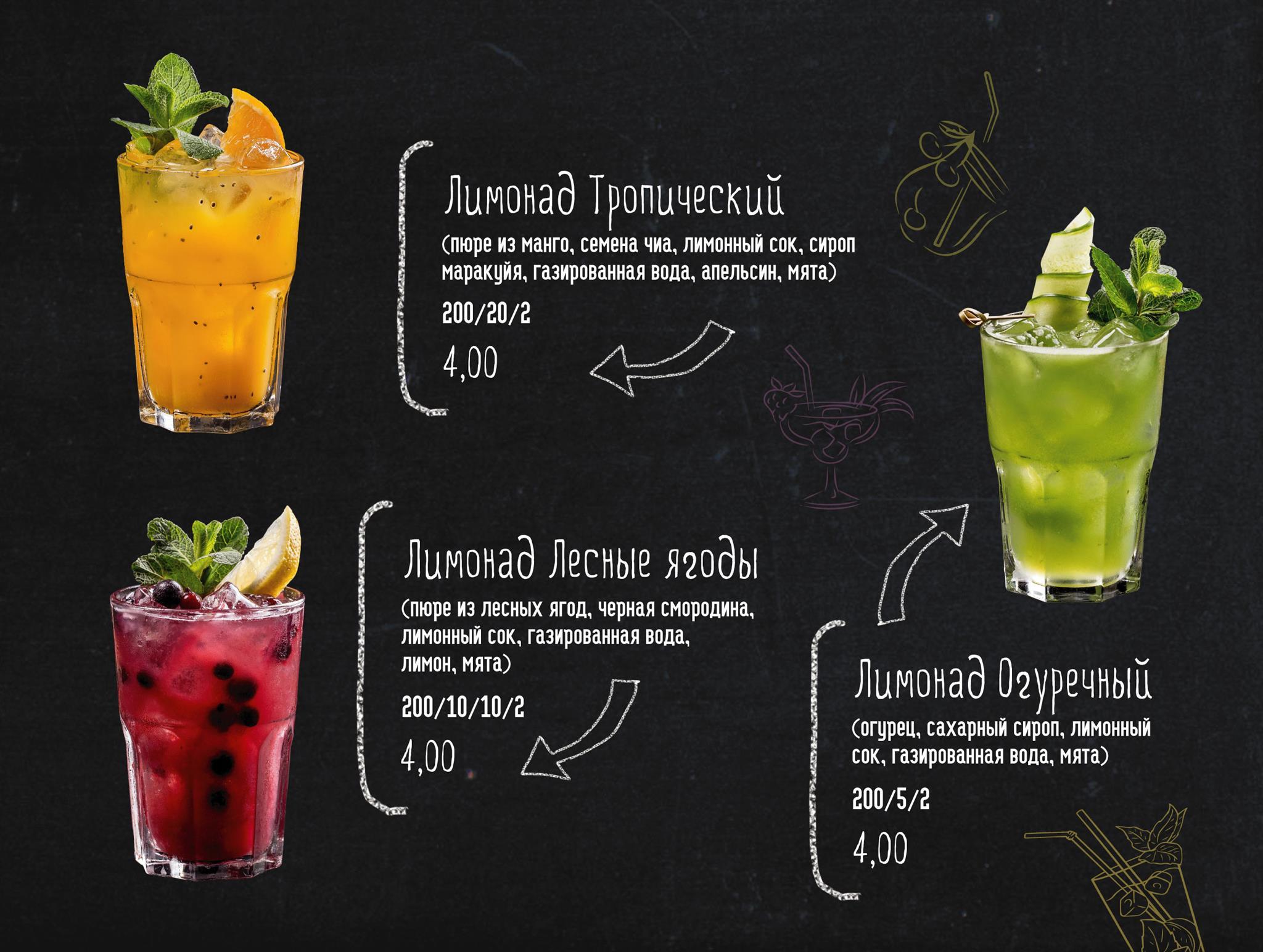 Новые летние лимонады в Terra!